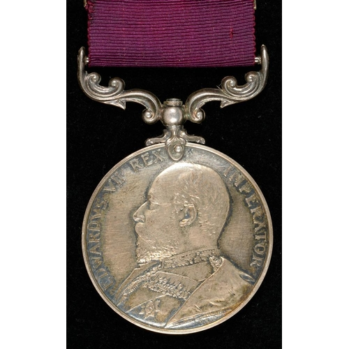 302 - <p>ARMY LONG SERVICE AND GOOD CONDUCT MEDAL, EDWARD VII, 1900 S S MAJOR E ALLITT 3RD HUSSARS </p>...