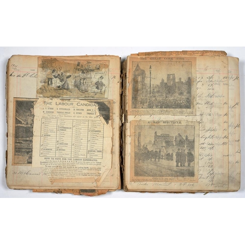 326 - <p>CORK, IRELAND. AN EARLY 20TH C SCRAPBOOK, INCLUDING POLITICAL HAND BILLS (RUTTLEDG AND THE EMPIRE...