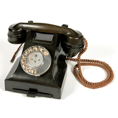 327 - <p>A BAKELITE MODEL 164 46/1 DESK TELEPHONE </p>...