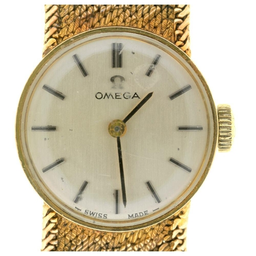 5 - <p>AN OMEGA 9CT GOLD LADY'S WRISTWATCH, 9CT GOLD BRACELET, 23.5G</p><p></p>...