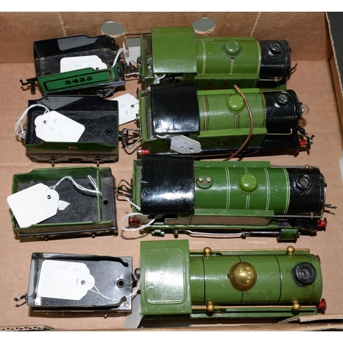 503 - <p>FOUR HORNBY O-GAUGE ELECTRIC LOCOMOTIVES AND TENDERS </p>...