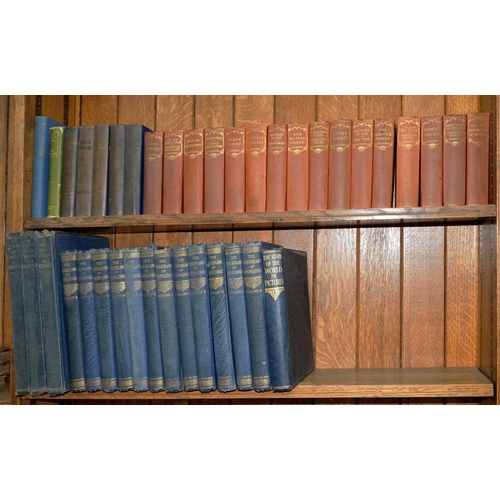 511 - <p>DICKENS (C), 16 VOLS, THE WONDERLAND OF KNOWLEDGE, 12 VOLS, THE WORLD'S GREATEST PAINTINGS, 3 VOL...