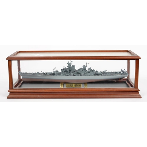 306 - <p>A FRANKLIN MINT MODEL OF THE U.S.S.
