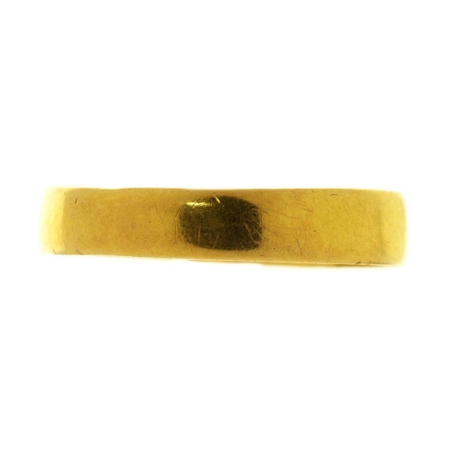 46 - <p>A 22CT GOLD WEDDING RING, BIRMINGHAM 1914, 1G, SIZE L�</p><p></p>...