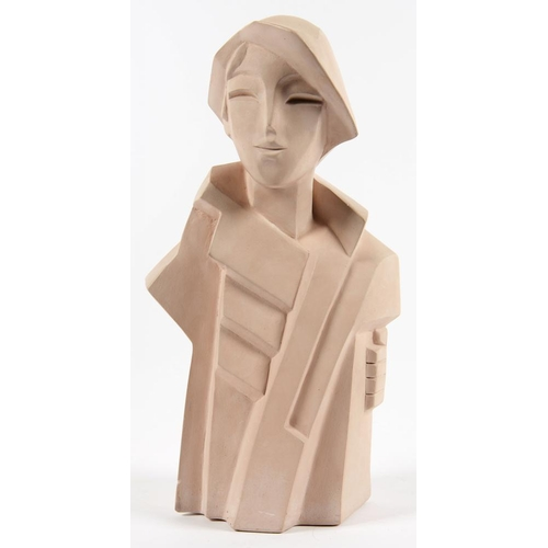163 - <p>AN AUSTIN PRODUCTS ART DECO STYLE STATUETTE OF A YOUNG WOMAN, DESIGNED BY KARIN SWILDENS 1988, 32...