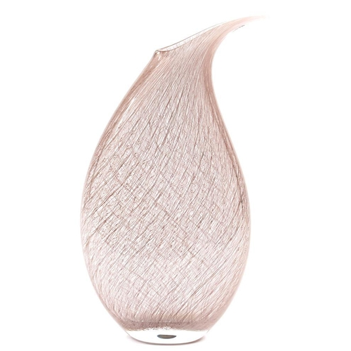 202 - <p>MICHAEL JAMES HUNTER TWISTS  MERLETTO WEDGE GLASS  VASE, 30.5CM H, Twist label, SIGNED M Hunter T...