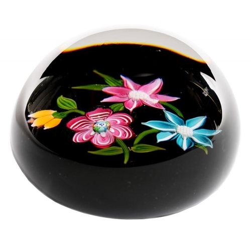 248 - <p>a crieff GLASS flower paperweight, 8cm diam</p>...