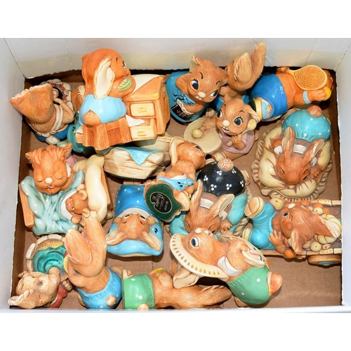 250 - <p>A GROUP OF PENDELFIN RABBITS, INCLUDING BOSWELL, BARROW BOY, VICTORIA, POOCH, ETC AND MISCELLANEO...