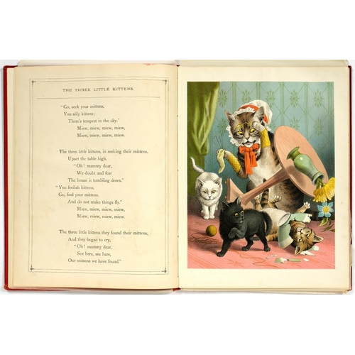327 - <p>VICTORIAN ILLUSTRATIONS. THOMAS NELSON AND SONS, PUBLISHER, THE THREE LITTLE KITTENS, THE THREE W...