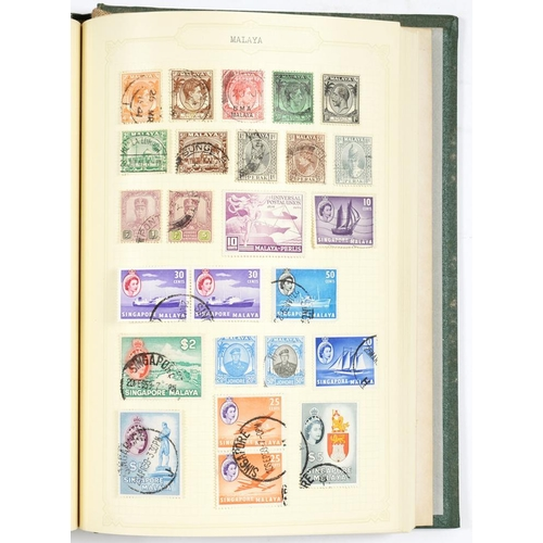 352 - <p>POSTAGE STAMPS. A MINT AND USED GB EMPIRE AND FOREIGN COLLECTION ON LEAVES, IN TWO BINDERS, 19TH ...