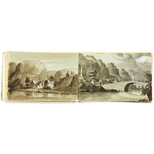 447 - <p>FOUR 19TH C AND LATER SKETCH BOOKS AND FOLDERS OF DRAWINGS AND WATERCOLOURS BY VARIOUS ARTISTS, O...