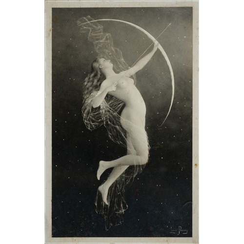 485 - <p>AFTER LOUIS PERREY, DIANA, PHOTOGRAPHIC REPRODUCTION PRINT, DATED 1891, IN ORIGINAL FRAME WITH RU...