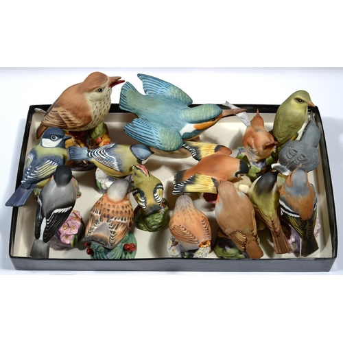 250 - <p>FIFTEEN ROYAL WORCESTER MODELS OF BRITISH BIRDS, VARIOUS SIZES, PRINTED MARK AND TITLE</p>...
