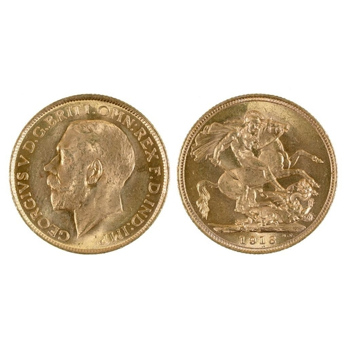 38 - <p>GOLD COIN. SOVEREIGN 1916S</p>...