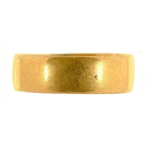 6 - <p>A 22CT GOLD WEDDING RING, 3.5G</p>...