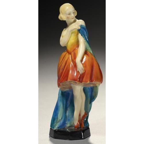 270 - <p>A ROYAL WORCESTER FIGURE OF COLUMBINE, MODELLED BY DORIS LINDNER, 1953, 15.5cm h, printed mark an...