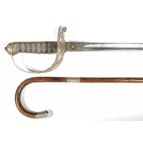 325 - <p>AN 1854 PATTERN GEORGE V SCOTS GUARD OFFICER'S SWORD AND SCABBARD, BY HENRY WILKINSON, SERIAL NUM...