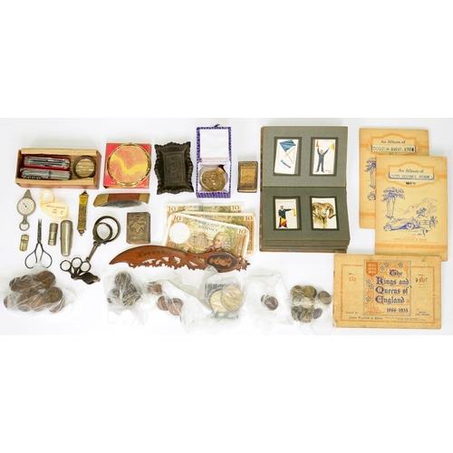 367 - <p>A SMALL COLLECTION OF FOLDING KNIVES, MINIATURE EDITION OF THE RUBAIYAT OF UMAR KHAYYAM, A 19TH C...