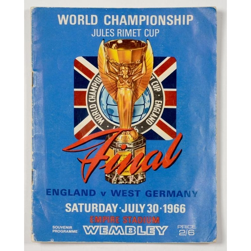 370 - <p>SOCCER. FOOTBALL PROGRAMME - WORLD CHAMPIONSHIP, ENGLAND V WEST GERMANY, SATURDAY JULY 30 1966</p...