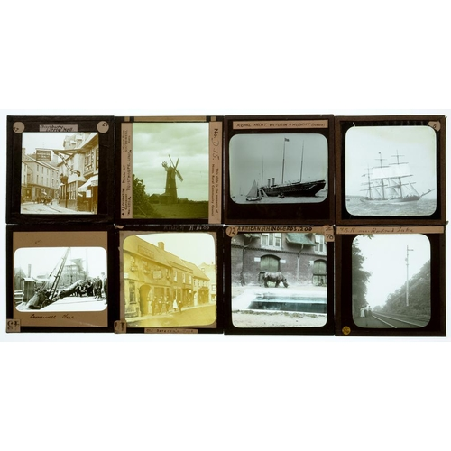 418 - <p>AN EXTENSIVE COLLECTION OF MAGIC LANTERN SLIDES OF A GREAT VARIETY OF SUBJECTS, INCLUDING SEVERAL...