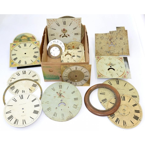 439 - <p>MISCELLANEOUS EARLY 19TH C AND VICTORIAN PAINTED LONGCASE CLOCK DIALS</p>...