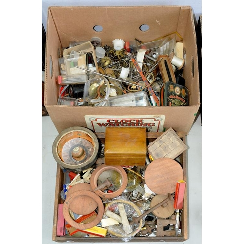 443 - <p>MISCELLANEOUS ANTIQUE CLOCK PARTS, ETC</p>...