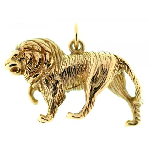 99 - <p>A GOLD LION PENDANT, MARKED 375, 11.4G</p>...