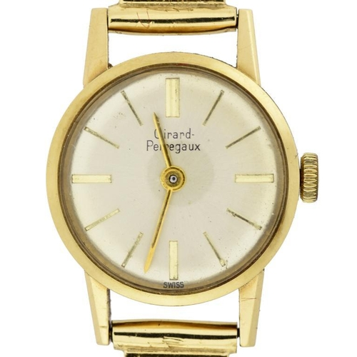 9 - <p>A GIRARD-PERREGAUX 9CT GOLD LADY'S WRISTWATCH AND A 9CT GOLD BRACELET  1.9cm diam, boxed, 23.5g</...