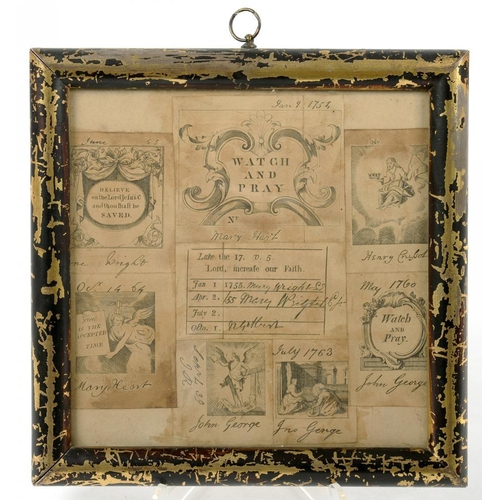 333 - <p>18TH CENTURY METHODISM.  EIGHT ENGRAVED CLASS TICKETS ALL INSCRIBED WITH A CHILD'S NAME AND VARIO...
