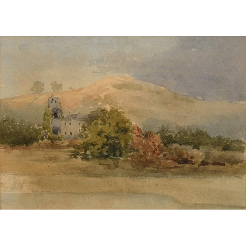 543 - <p>ENGLISH SCHOOL 1881 - COULD STUDY, INDISTINCTLY SIGNED, DATED AND INSCRIBED, WATERCOLOUR, 12 X 16...