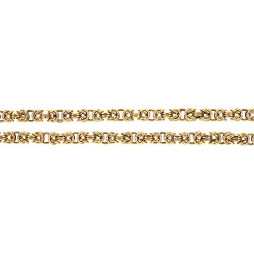 48 - A 9CT GOLD CHAIN, 80 CM L, 45G...