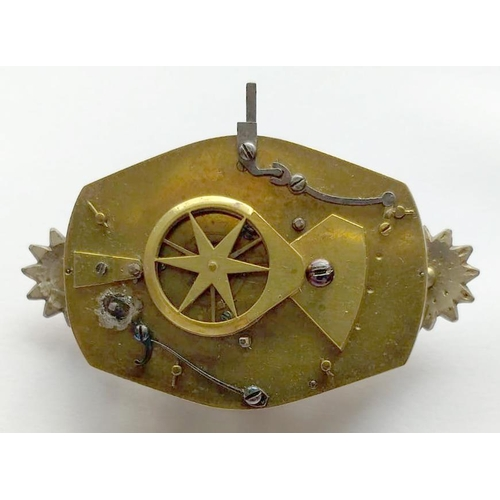 61 - <strong>A RARE GEORGE III PASTE SET GILTMETAL AUTOMATON WATCH BY JAMES COX, UNSIGNED, C1770</strong...