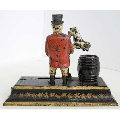 627 - <strong>A PAINTED MECHANICAL CAST IRON JOHN BULL BANK SYDENHAM & MCOUSTRA WALSALL, C1909</stro...