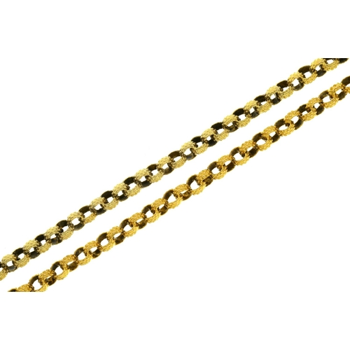 21 - <strong>A VICTORIAN GOLD MUFF CHAIN, MID 19TH C </strong> approx 102cm l, 29g...