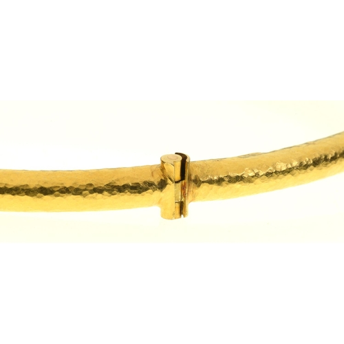 35 - <strong>ILIAS LALAOUNIS. A GREEK GOLD SERPENT NECK RING</strong>hinged at the centre, approximatel...