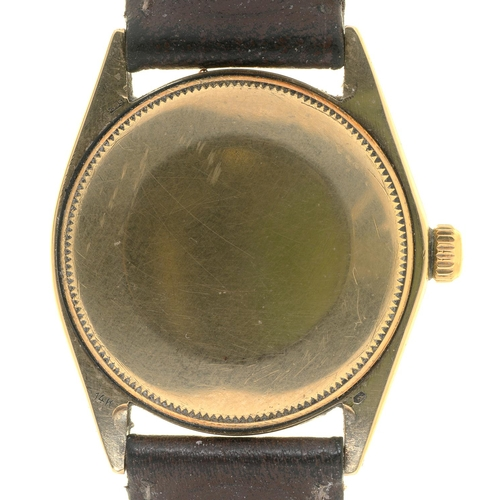 56 - <strong>A ROLEX 14CT  GOLD SELF WINDING WRISTWATCH OYSTER PERPETUAL AIR-KING  </strong>Ref 5560, No ...