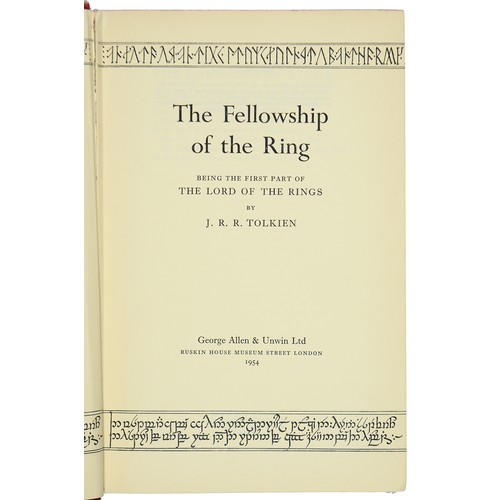 678 - <strong>TOLKIEN, J R R THE LORD OF THE RINGS; THE FELLOWSHIP OF THE RING; THE TWO TOWERS; THE RETUR...