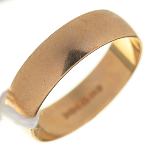3 - A 9CT GOLD WEDDING BAND, CONVENTION MARKED, 2.2G, SIZE N½...