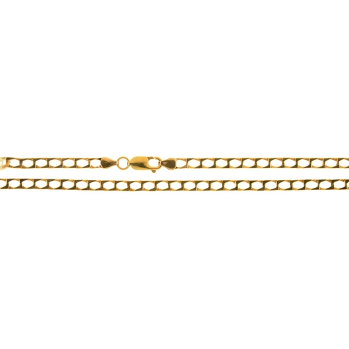 57 - A 9CT GOLD NECKLACE, 54.5CM L, INDISTINCTLY MARKED, 13.5G...