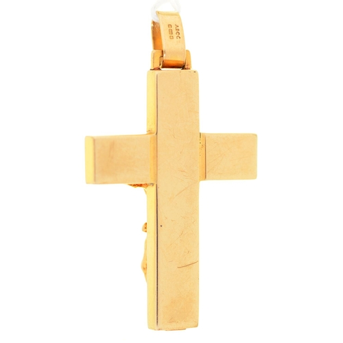 59 - A 9CT GOLD CRUCIFIX, 46MM INCLUDING LOOP, IMPORT MARKED SHEFFIELD 1997, 6.8G...
