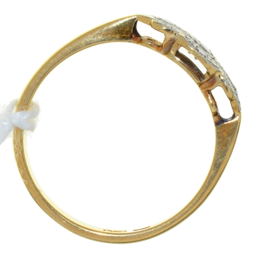 52 - A DIAMOND RING, ILLUSION SET IN 18CT GOLD, 2.5G, SIZE O...