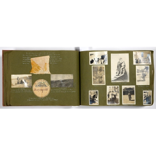 609 - WWI GROUP OF THREE, WAR DIARY AND POSTCARD ALBUM, 1914-15 STAR, BRITISH WAR MEDAL AND VICTORY MEDAL ...