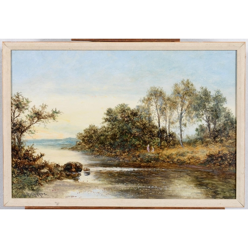 673 - L RICHARDS, FL EARLY 20TH CENTURY - RIVER SCENE, SIGNED, PROBABLY PSEUDONYMOUSLY, OIL ON CANVAS, 49 ...
