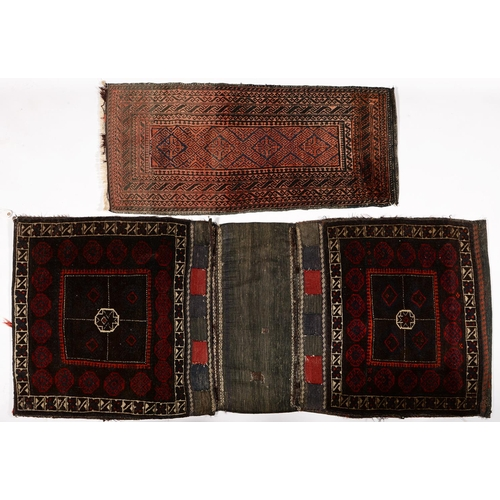 790 - TWO RUGS, 91 X 110 AND 83 X 184CM...