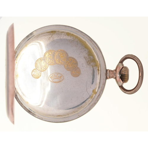 118c - A GOLD AND SILVER BIMETAL KEYLESS LEVER WATCH, JANNE NILSSON HALMSTED WITH SOLA MOVEMENT, FILIGREE H...