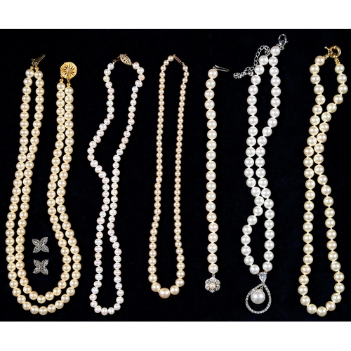 118d - VARIOUS PEARL NECKLACES, ETC...