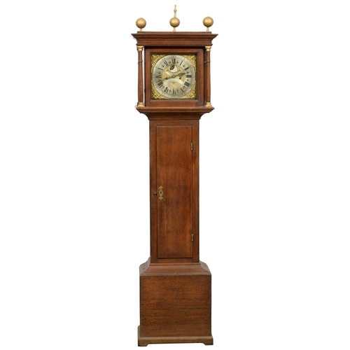 922 - AN OAK EIGHT DAY LONGCASE CLOCK, WILLIAM PORTHOUSE PENRITH, 18TH C, THE MATTED CENTRE WITH SIGNATURE...