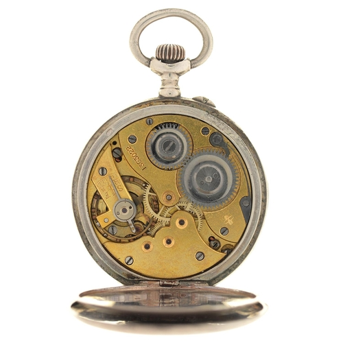 104 - VACHERON AND CONSTANTIN. A SILVER KEYLESS LEVER LADY'S WRISTWATCH, NO 1363022, WITH GOLD FILIGREE H...