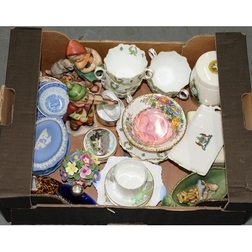 341 - MISCELLANEOUS ORNAMENTAL CERAMICS, EARLY 20TH C AND LATER...