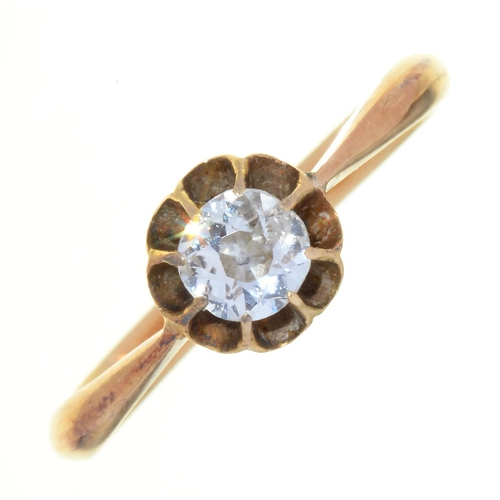 54 - A DIAMOND SOLITAIRE RING WITH OLD CUT DIAMOND, IN GOLD MARKED 18CT, 2.1G, SIZE L½...